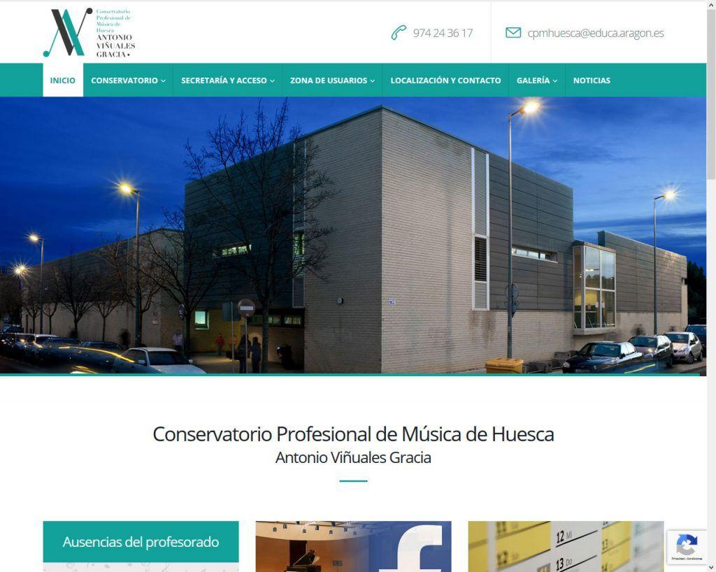El Conservatorio Profesional de Música de Huesca estrena nuevo portal Web
