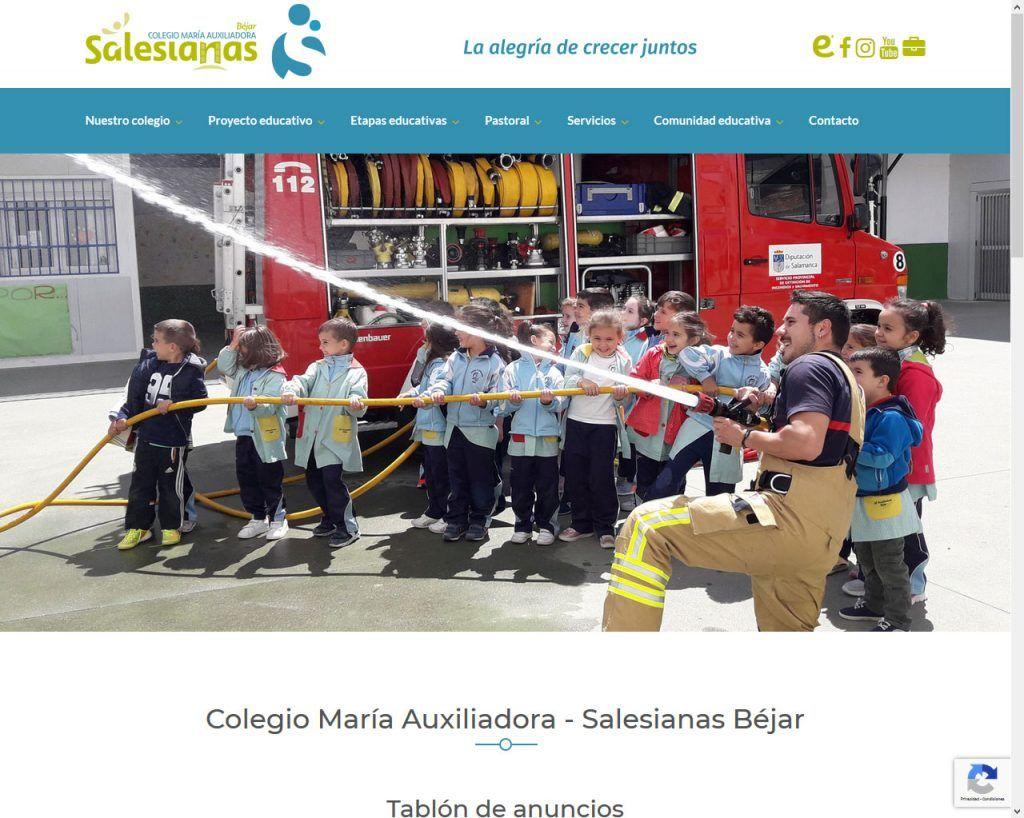 Salesianas Béjar revitaliza su portal Web modernizando tu diseño