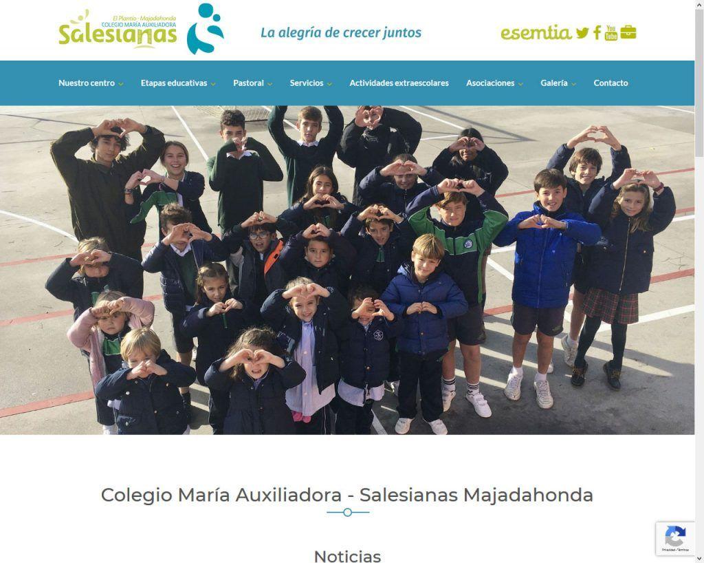 Portal en marcha antes de fin de curso para Salesianas Majadahonda