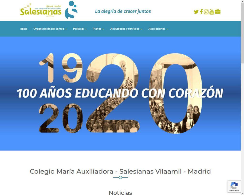 Salesianas Villaamil estrena portal Web para el próximo curso