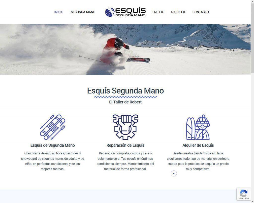 El taller de Robert con Esquís Segunda Mano sale a internet