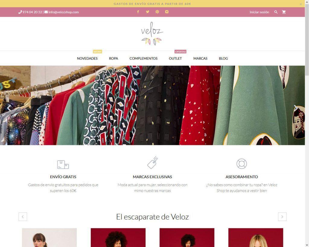 Veloz Shop cambia look y funcionamiento en su eCommerce