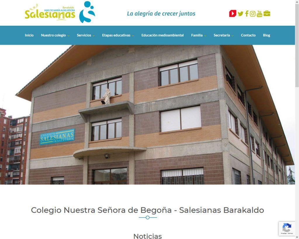 Primera Web del año, Salesianas Barakaldo