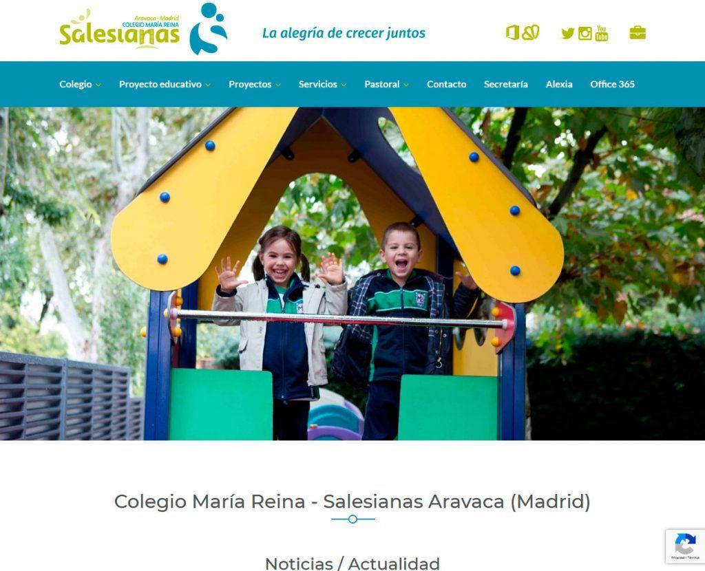El Colegio María Reina de Madrid adapta su Web a la imagen corporativa