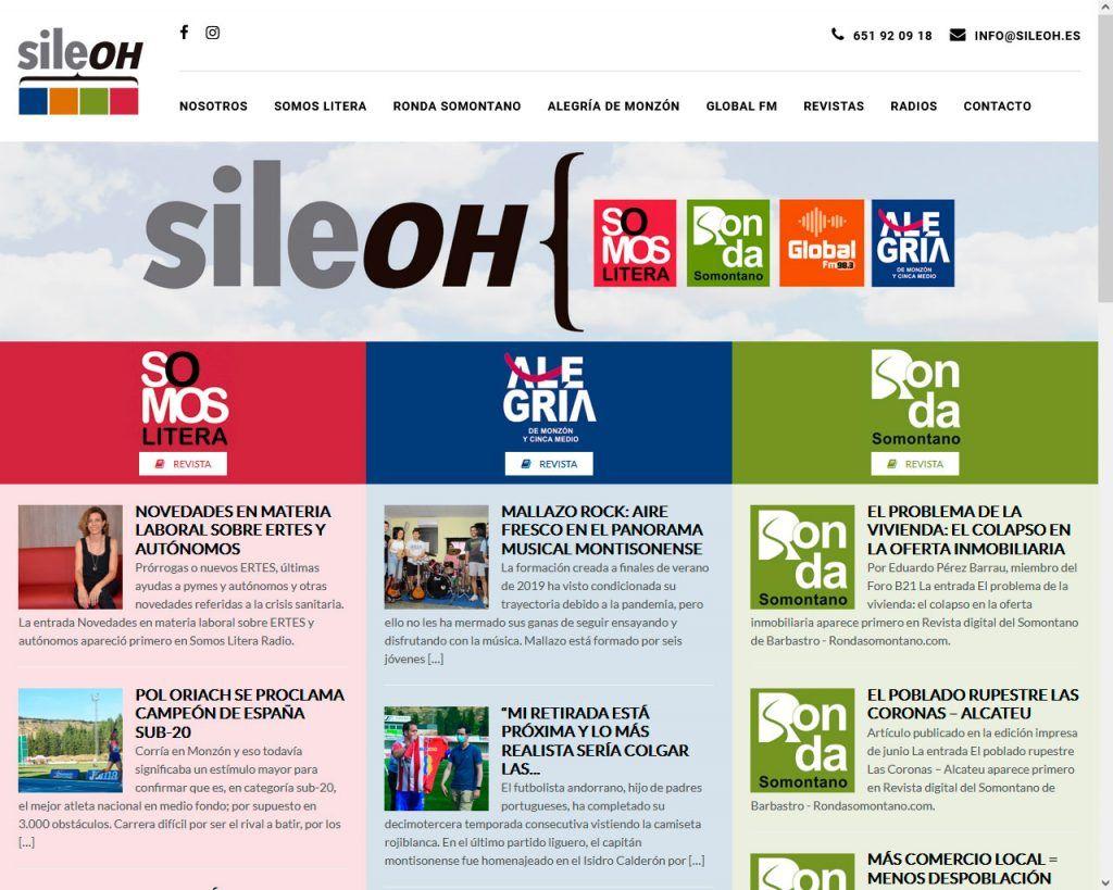 Los medios de la zona oriental de Huesca se unen en Sileoh